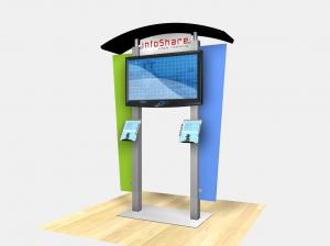 RE-1230 Rental Display / Large Monitor Kiosk with Arch Canopy - Image 2